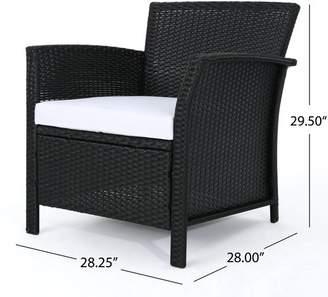 Mercury Row Brassard 4 Piece Rattan Sofa Set with Cushions Frame