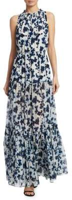 Elizabeth and James Lani Ink Floral Print Gown