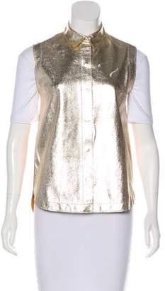 3.1 Phillip Lim Metallic Leather Vest