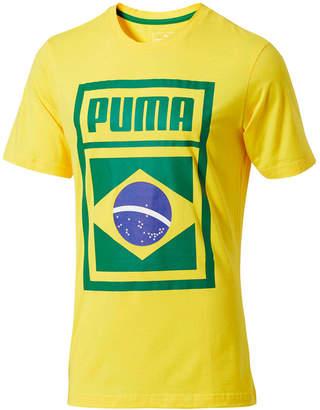 Puma Men's Forever Football Brazil Soccer T-Shirt