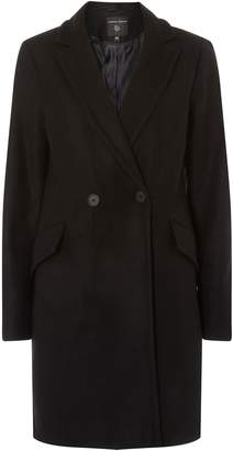 Dorothy Perkins Womens Black Double Breasted Coat