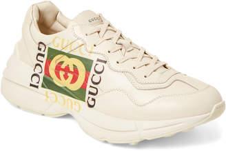 f99d0ab7ee9 Gucci Men s Beige Logo Print Low-Top Sneakers