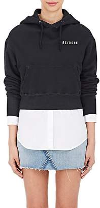 RE/DONE Women's Cropped Cotton Hoodie