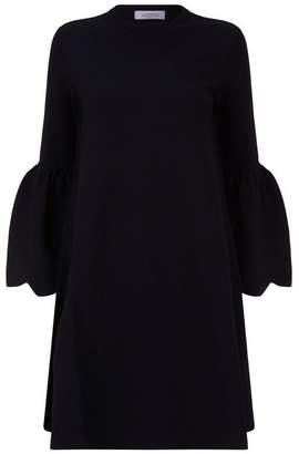 Valentino Scalloped Sleeve Dress