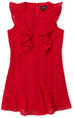 Bardot Girls 7-16) Red Dream Big Ruffled Dress