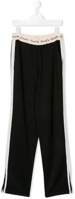 Twin-Set branded waist track trousers