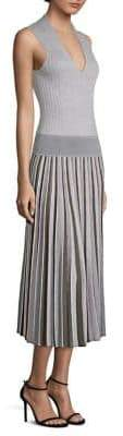 Agnona Merino Wool Pleated Dress