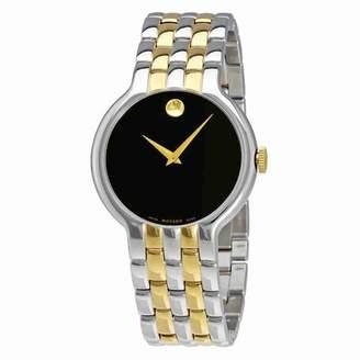 Movado Veturi Black Dial Mens Two- Tone Watch 0606932