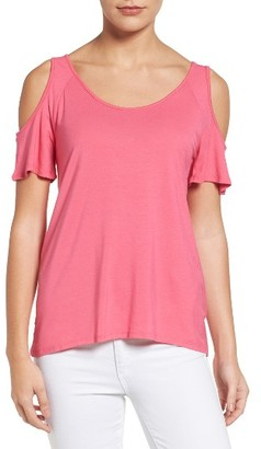 Women's Kut From The Kloth Yoselin Cold Shoulder Top $58 thestylecure.com
