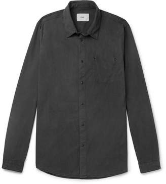 Folk Garment-Dyed Lyocell And Cotton-Blend Twill Shirt