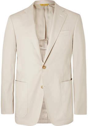 Canali Stone Stretch-cotton Suit Jacket - Beige