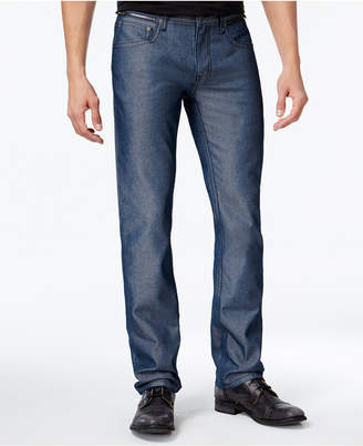 INC International Concepts I.n.c. Men's Slim Straight Fit Navy Chambray Jeans, Created for Macy's