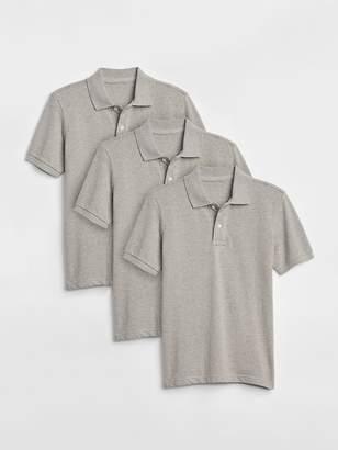 Gap Uniform Short Sleeve Polo Shirt (3-Pack)