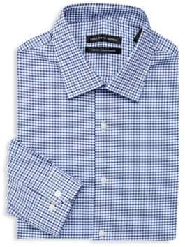 Saks Fifth Avenue Checkered Dress Shirt