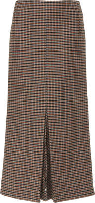 Victoria Beckham Box Pleat Plaid Tweed Wool Skirt Size: 6