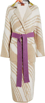 Missoni Intarsia Belted Wool Coat