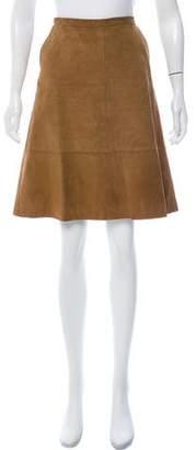 Dolce & Gabbana Knee-Length Suede Skirt