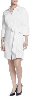 Catherine Malandrino Tie-Belt Shirt Dress