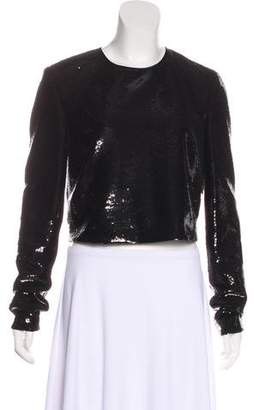 Diane von Furstenberg Sequined Long Sleeve Top w/ Tags