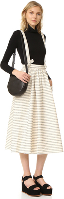 Mara Hoffman Full Skirt with Suspenders $325 thestylecure.com