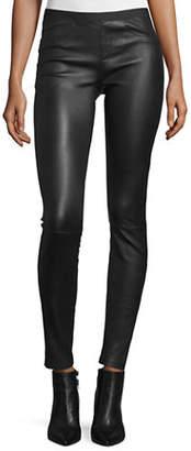 Helmut Lang Leather Ankle Leggings
