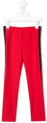 Gucci Kids web lined leggings