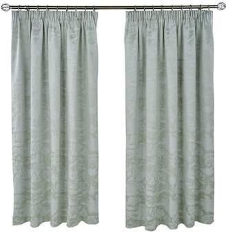 Dorma Cherry Blossom Cotton-Rich Pencil Pleated Curtains