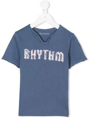 Zadig & Voltaire Kids rhythm print T-shirt