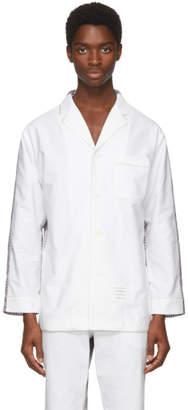 Thom Browne White Bicolor Pyjama Shirt