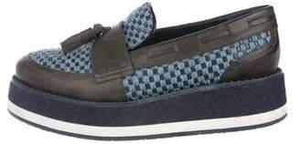 Jimmy Choo Tassel Woven Platform Loafers