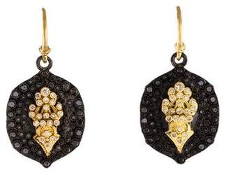 Armenta Diamond Fleur de Lis Earrings