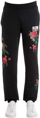 Bbc-Billionaire Boys Club Floral Embroidered Cotton Sweatpants