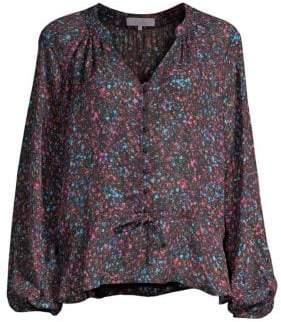 Parker Rosline Silk-Blend Floral Blouse
