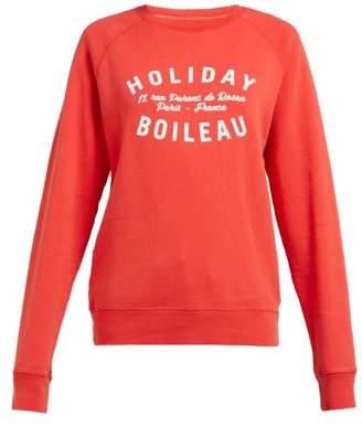 Holiday Boileau Logo Print Cotton Jersey Sweatshirt - Womens - Red