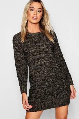 boohoo Petite Soft Mal Knit Jumper Dress