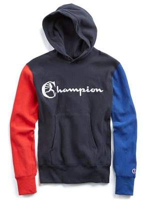 Todd Snyder + Champion Champion Colorblock Hoodie in Red, White and Blue