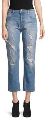 Love Moschino Distressed Cropped Jeans