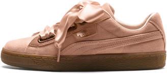 Basket Heart Corduroy Womens Sneakers