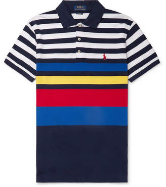 fcd0f448 Polo Ralph Lauren Slim-Fit Striped Cotton-Pique Polo Shirt