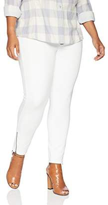 Hue Women's Plus Size Ankle Zip Simply Stretch Twill Skimmer Leggings