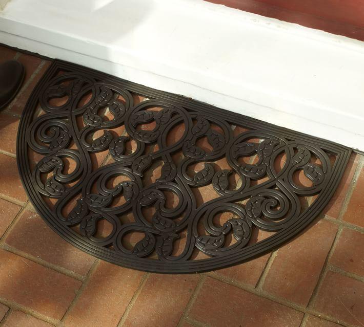 Pottery Barn Leaf Rubber Doormat