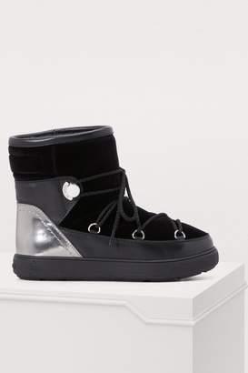 Moncler Stephanie velvet boots