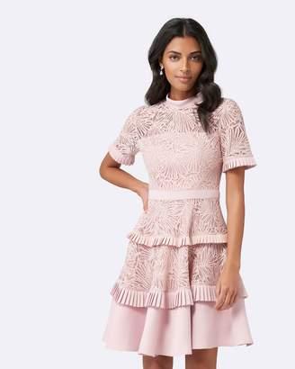 Petite Raine Panel Prom Dress