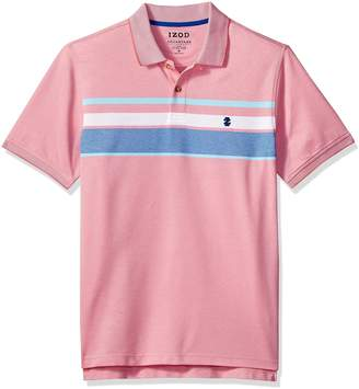 Izod Men's Big and Tall Advantage Performance Stripe Polo