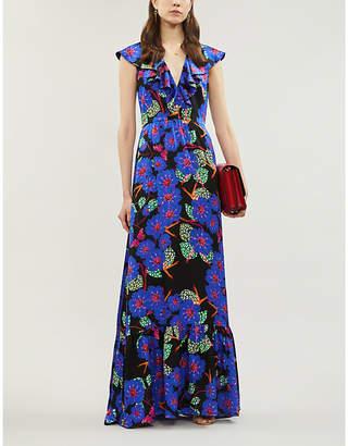 Borgo de Nor Albertine floral-pattern silk maxi dress