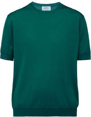 Prada short sleeved knitted blouse