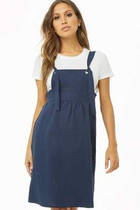 Forever 21 Linen-Blend Pinafore Dress