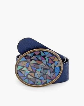 Chico's Chicos Mosaic-Buckle Belt