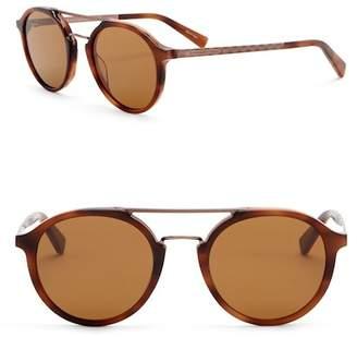 Ermenegildo Zegna 50mm Round Aviator Sunglasses