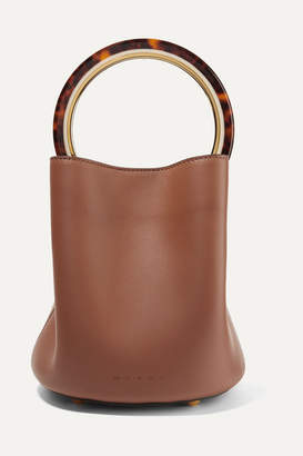 Marni Pannier Leather Bucket Bag - Brown